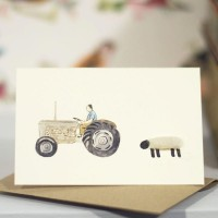 Mini Sheep and Fergie tractor card