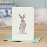 Mini Rabbit brown card