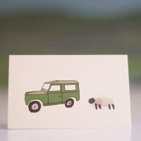 Mini Sheep and Land Rover