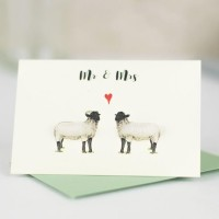 Mini Sheep Norfolk Horn Mr & Mrs card