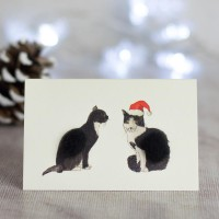 Mini Cats black and white card