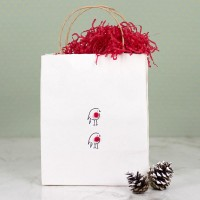 Gift Bag - Christmas Robin - large