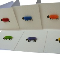 Gift Tags, square - Bright Sheep