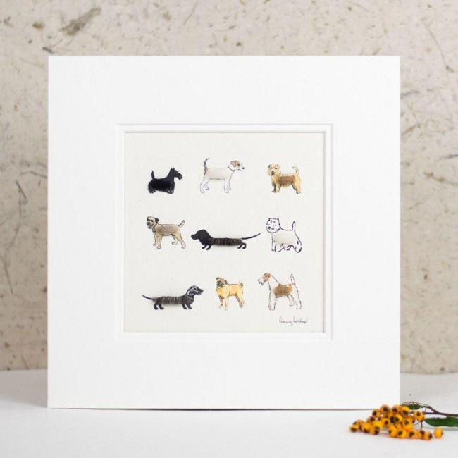 9 Dogs assorted print