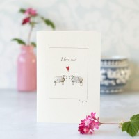Sheep I love ewe card