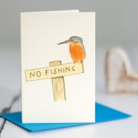 Mini Bird Kingfisher card