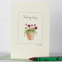 Pinks Thinking of you card