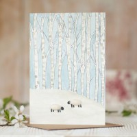 Sheep woodland card