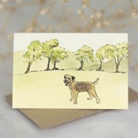Mini Dog10P - Border Terrier by 6 trees