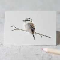 Mini Bird Kookaburra card
