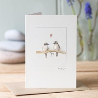 Kookaburras in love card