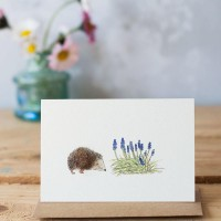Mini Hedgehog and flowers card
