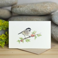 Mini Bird Coal Tit card