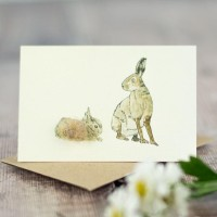 Mini Hare and Leverett card