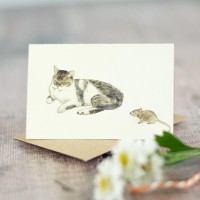 Cat Gift Card - cat-&-mouse