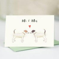Mini Jack Russells Mr & Mrs card