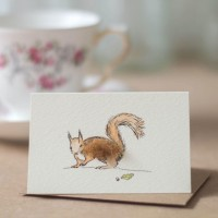Squirrel Gift Card - Red squirrel