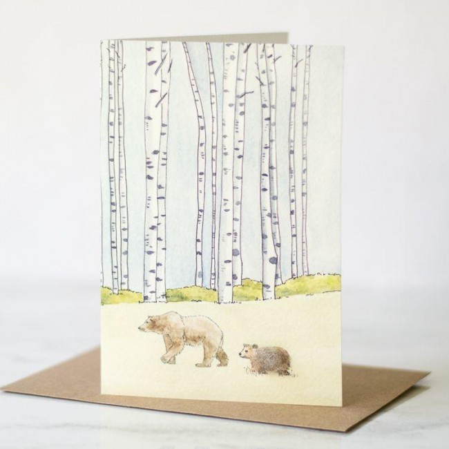 Bears woodland card