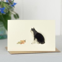 Cat Gift Card - Black and White Cat