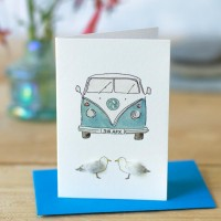 Camper van and seagulls Gift Card