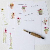 Notecards Flowers assorted 10 designs