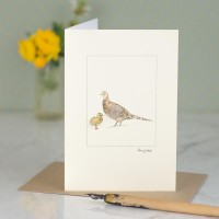 Pheasant and chick card