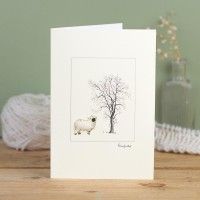 Sheep Black nose Valais card
