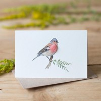 Mini Bird Chaffinch card