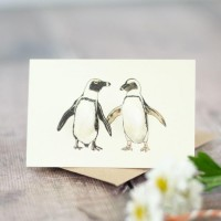 Mini Penguins African card