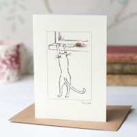 Cat Card - Cat At The Window Sill