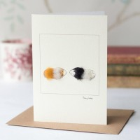 Guinea pigs card, ginger, brown and white