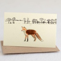 Mini Fox in landscape card