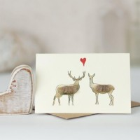 Mini Deer in love card