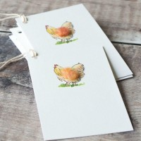 Gift Tags, with string - Chicken