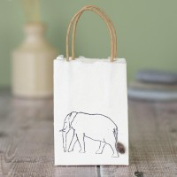 Gift Bag - Elephant - tiny