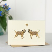 Mini Dog10G - Border terriers in love