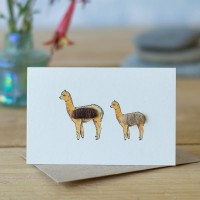 Mini Alpaca brown card