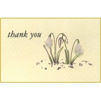 Flower Gift Card - Snowdrops Thank You