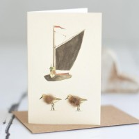 Mini Wherry and Sandpipers card