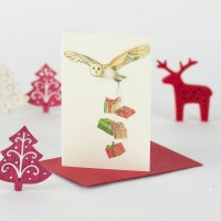 Mini Owl and presents card
