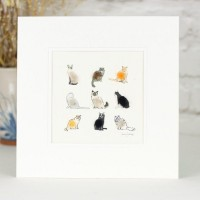 9 Cats assorted print