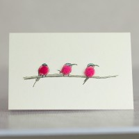 Mini Bird Carmine Bee Eaters card