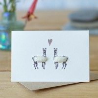 Mini Alpacas 2 white card