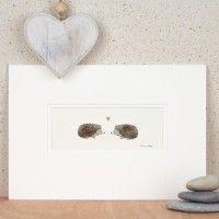 Hedgehogs in Love print