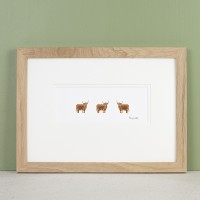 Print - Highland Cows in profile