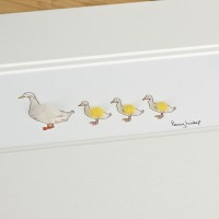 Aylesbury duck and 3 ducklings print