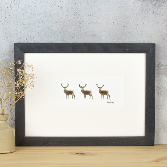 3 Stags print
